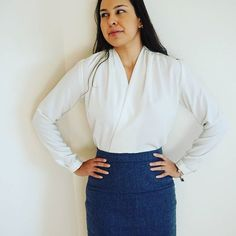 SOIshowoff December: What I'm wearing to the office today. Sew Over It Anderson Blouse in glorious ivory crepe Sew Over It Patterns, Sewing Ideas, Sewing Patterns, Business Formal, Pattern Drafting, Draping, Dressmaking, Capsule Wardrobe, Recycling