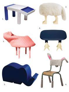 Weirdly wonderful animal seating.