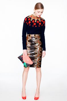 J.Crew's Army Of Mini Jennas In Statement Pants, Neon Sweaters,