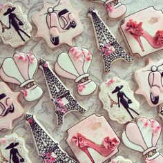 French theme cookies By Sugar Shimmer https://www.facebook.com/Sugarshimmer?ref=hl