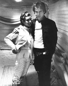 Han Solo (Harrison Ford) & Princess Leia (Carrie Fisher) gloss photo printed on Kodak paper Star Wars Film, Star Wars Cast, Star Trek, Harrison Ford, Carrie Fisher, Frances Fisher, Saga, Han And Leia, Han Solo Leia