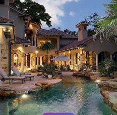 luxury mansion home pool backyard gotta win that lottery soon