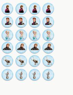Frozen: Toppers para Imprimir Gratis.   Ideas y material gratis para fiestas y celebraciones Oh My Fiesta!