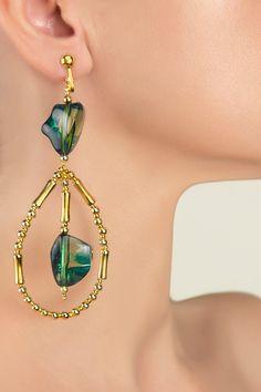 Felicie Drop Earrings, Green, Life, Accessories, Collection, Jewelry, Fashion, Moda, Jewlery