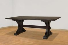 Ruff Sawn Live Edge Rustic Carlisle Dining Table from DutchCrafters Dining Table Sizes, Trestle Dining Tables, Dining Bench, Live Edge Furniture, Amish Furniture, Thing 1, Live Edge Table, Carlisle, Furniture Collection
