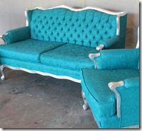 Lots of before/afters of painted upholstered furniture