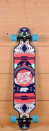 "DB Prebuilt 40"" Urban Native Red Drop Through Longboard"