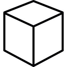 Printable 3d cube template color it cut it out fold it for Disegno 3d free