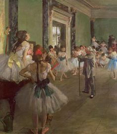 degas ballerinas. This was the first degas painting I saw and still remains to be one of my favorites