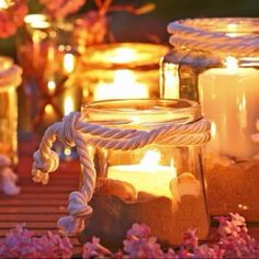 Super pretty outdoor luminaries...no tutorial (I think), but picture is fairly self-explanatory.