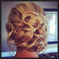 Romantic wedding hair updo