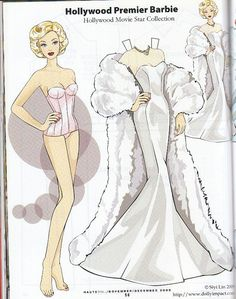 Barbie Paper Dolls | Hollywood Premier Barbie paper doll by Siyi Lin | Flickr - Photo ...