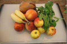 Sunday Smoothie Apple, Banana, Pear and Peach Peach Drinks, Farmers Market, Fresh Fruit, Pear, Smoothies, Sunday, Banana, Apple, Food