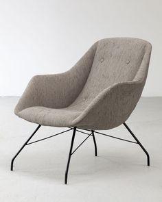 Carlo Hauner and Martin Eisler; Enameled Metal lounge Chair, 1960s.