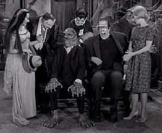 The Creature (Uncle Gillbert) visits with the Munsters.