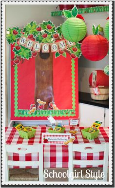 Apple unit on pinterest johnny appleseed apple bulletin for Apple tree classroom decoration