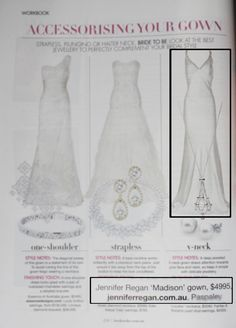 Bride Australia 2014 magazine featuring another Jennifer Regan wedding gown