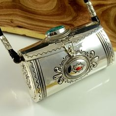 Navajo Silver Purse by Leonard Gene