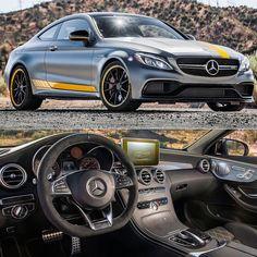 Mercedes-Benz C63 AMG Coupe Edition 1 2017 Versão nervosa da Classe C ganhou uma edição especial inspirada nos carros de competição da DTM: vem numa combinação exclusiva de cores cinza com faixas amarelas a mesma do modelo de competição para a temporada do ano que vem. O pacote inclui ainda detalhes aerodinâmicos bancos esportivos alem de conjunto de pneus e rodas de alta performance com 255/35 R 19 na frente e 285/30 R 20 no eixo traseiro. Equipado com o poderoso motor AMG 4.0 V8 biturbo…