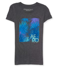 """Pass up a busy weekend in the city and hit the hammock rockin' our Aero Tropics Graphic T! Vibrant neon palm frond graphics and Aero signature text make it tons of fun to wear under the sun. The heathered construction ensures your comfort during every veg sesh.<br><br>Relaxed fit. Approx. length (S): 25.5""""<br>Style: 3045. Imported.<br><br>60% cotton, 40% polyester.<br>Machine wash/dry."""