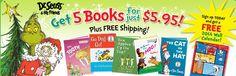 Dr. Seuss $5.95 for 5 Books + FREE Wall Calendar!