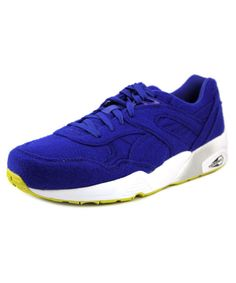 PUMA PUMA R698 BRIGHT MEN ROUND TOE CANVAS BLUE SNEAKERS .  puma  shoes a88b1c82b
