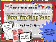 Student Data Tracking, Charting, Goal-Setting, Evaluation & Reflection Pack | Middle to High School | Any Subject