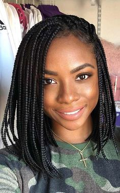 Cute Braided Bob Braids for black women 88 Best Black Braided Hairstyles to Copy in 2020 Short Box Braids Hairstyles, Short Braids, Braided Hairstyles For Black Women, Dance Hairstyles, African Braids Hairstyles, Bob Hairstyles, Black Hairstyles, Braids Bob Style, Natural Braided Hairstyles