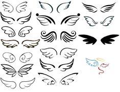 Wing pairs I made from all choices so far I saw and let's… – My Pin Table . - Wing pairs I made from all choices so far I saw and let's… – My Pin Table – Shared Pins - Alas Tattoo, Tattoo Son, Doodle Tattoo, Tattoo Wings, Mini Tattoos, Body Art Tattoos, New Tattoos, Tatoos, Celtic Tattoos