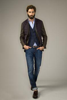 Brunello Cucinelli Uomo PE 14 - giacca magrogalles lino-lana-seta con panciotto in lino e piumino overcheck lino-lana-seta.jpg