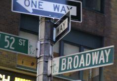 Broadway sing, New York City, NY
