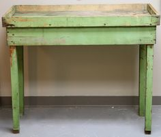 Country Potting Table with Great Old Paint