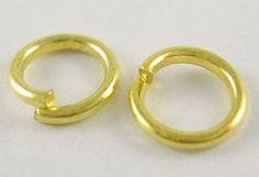 Gold Jump Ring 10MM  QTY 200  (JR-201) by CarolinaFindingsEtc on Etsy