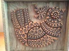 Rare tile bird by Joanne Strandvold signed by Cactusbirdvintage