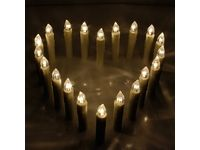 aLLreli 20er Batteriebetriebene Flammenlose Kerzen #Ciao