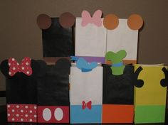 Mickey Mouse treat bags.