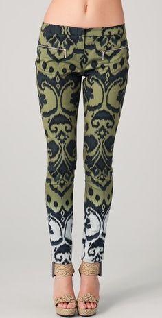 Matthew Williamson Ombre Ikat Skinny Trousers