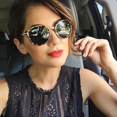 I am back for another week in my closet and this post is jam packed full of goodness and good finds. Round Sunglasses, Mirrored Sunglasses, Sunglasses Women, Jillian Harris, Golden Hair, Style Icons, Sunnies, Fashion Beauty, Hair Beauty