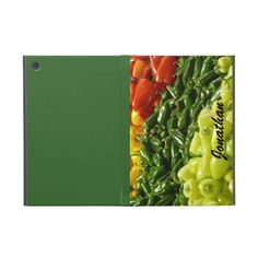 iPad Mini Folio Case, Hot Peppers, Green iPad Mini Cases #SpicyFoods