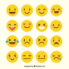 several-emoticons-in-flat-style_23-2147572596.jpg (626×626)