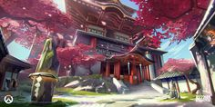 Enjoy The Art of Overwatch in a collection of Concept Art & Character Design made for the game. Overwatch is set in the near-future Earth, years after Landscape Concept, Fantasy Landscape, Landscape Art, Fantasy Art, Environment Concept, Environment Design, Game Concept Art, Anime Scenery, Map Art