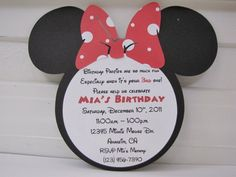 minnie mouse 4th birthday invitation wording - Google Search