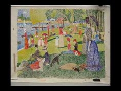 Kids teach about Seurat! Cool time lapse video.  ▶ Fine Arts Night - YouTube