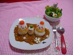 Snowman curry