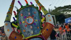 Exhibición de los lechones en el carnaval de Santiago 2017