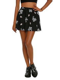 Iron Fist Kitten Mini Skirt, BLACK
