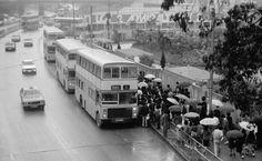 一九八一.金鐘廊巴士站 1981 admiralty bus station