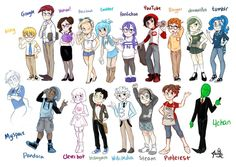 Characters on point. The internet!!!<---- except for the purple hair, I look just like fanfiction! :D