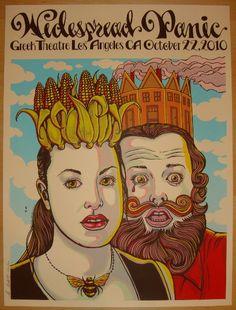 2010 Widespread Panic - LA Silkscreen Concert Poster by MMM | JoJo's Posters