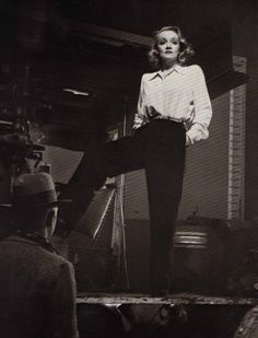 Marlene Dietrich    i love the trouser pant its amazing